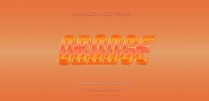 effet de texte orange métallique