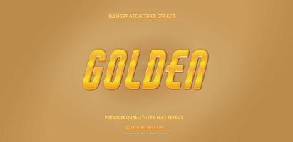 Metallic Gold Text Effect vector