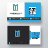 plantilla de tarjeta de visita azul, blanca, gris