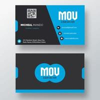 Blue, Gray Business Card Template vector