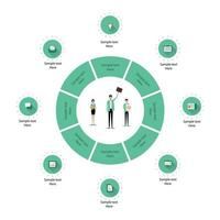 Business Infographic of Circle and Business Team