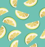 padrão de fatias de limão vetor