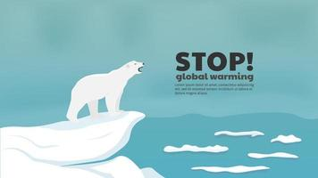 Stop global warming concept vector