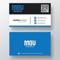 cartão de visita com design preto e branco dividido
