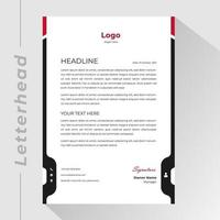 Business letterhead with red and black vertical borders vector