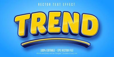 texto de tendencia, efecto de texto editable de estilo de dibujos animados