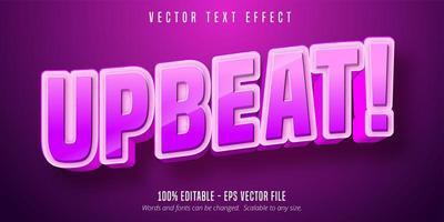 texto optimista, efecto de texto editable de estilo de dibujos animados de color rosa