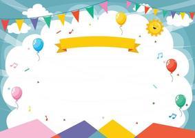 marco de fiesta de celebración de niños vector