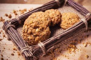Cookies, snack mix, cereals with health benefits.