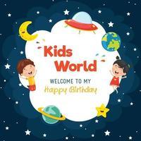 modello di spazio compleanno bambini