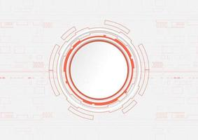 Orange circle technology design with copyspace