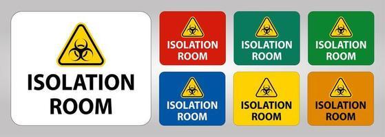 signe de la chambre d'isolement des risques biologiques vecteur
