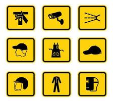 symboles de danger d'avertissement