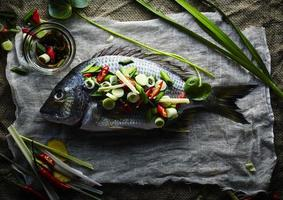 fresh fish with asian spices