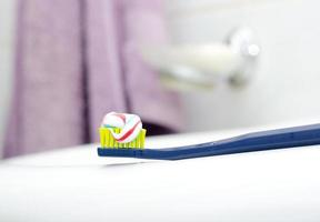 Toothbrush With Toothpaste at the sink