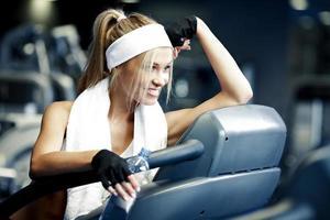 fitness op een loopband