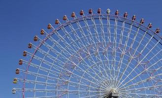 The highest Tempozan Gaint Ferris Wheel (Daikanransha) in the cl photo