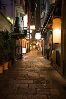osaka callejón de noche foto
