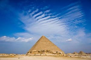 Pyramid of Khafre in Giza, Egypt photo