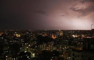 Dramatic sky on Dhaka city photo