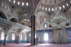 interior de la mezquita foto