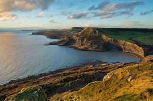 Fabulous late afternoon view across Chapman's Pool, Dorset, UK