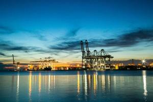 Port container terminal photo