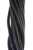 Black plastic corrugated pipe photo