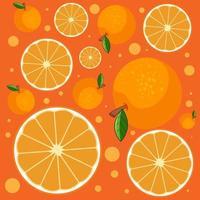 Fondo transparente de rodaja de naranja