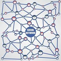 vecteur de flux de travail de réseau social