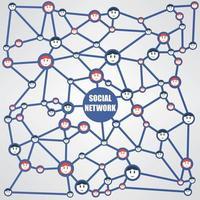 sociale netwerk workflow vector