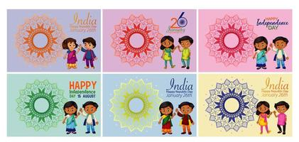 India Holiday Designs in Various Colors vector