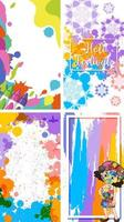 Holi Festival with Colorful Paint Backgrounds vector