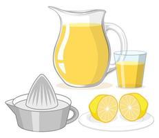 limonada en vaso y jarra vector