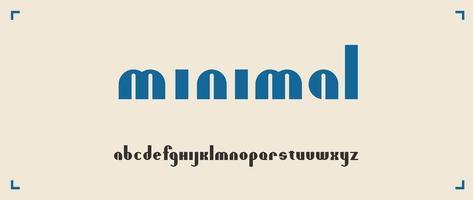 minimalistische ronde lettertype op witte achtergrond vector