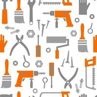 Tools and electrical equipment seamless background  vector