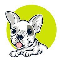 Retrato de cachorro de bulldog francés vector