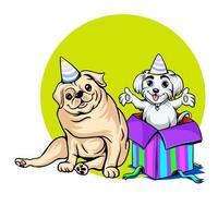 diseño de tarjeta de felicitación de cumpleaños de mascotas