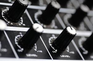 Sound console. Audio mixer.