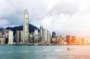 vista de hong kong del puerto de victoria foto