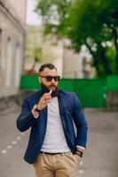 bearded man with e-cigarette
