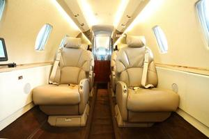 Privat jet cabin rear photo