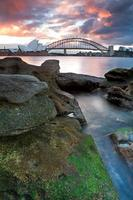The Sydney Opera House and harbour bridge in Australia photo