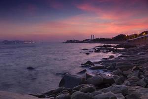 Dusk at xiamen beach photo