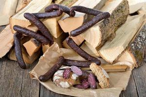 Cured sausages photo
