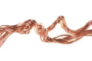 alambre de cobre rojo foto