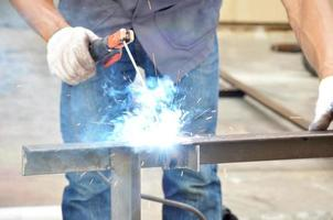 Arc welding or stick welding photo