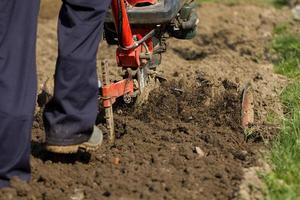 Hand plowing. photo