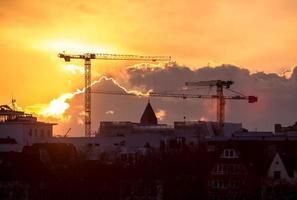 Sunset in Cologne, Germany photo