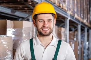 Worker in warehouse photo